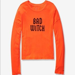 Victoria's Secret Pink Bad Witch Cropped Tee